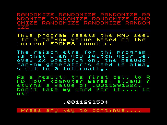 RANDOMIZE2