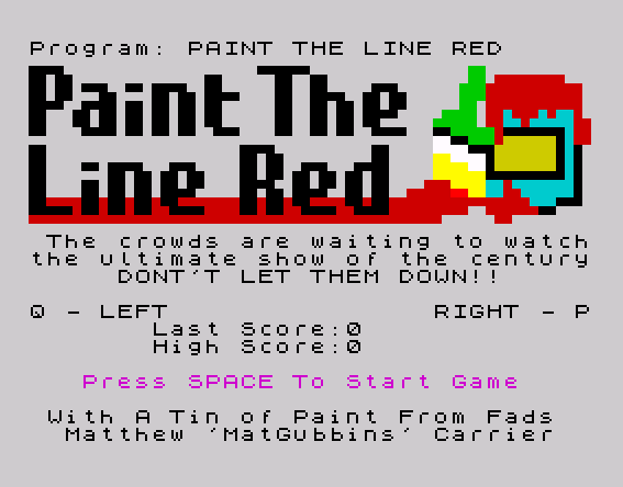 Paint The Line Red - Opening Title