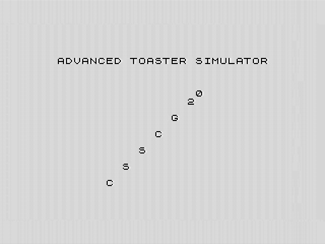Not just a bog-standard toaster simulator, this.